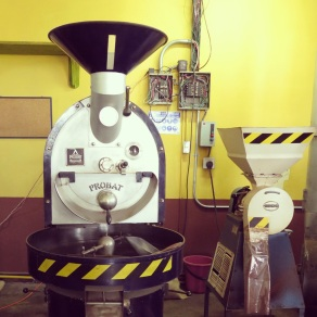 Coffee Roaster at Doka Estate Coffee Plantation