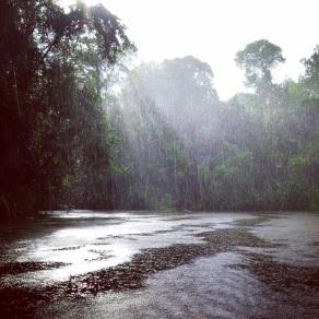 Tortuguero canals during the rain