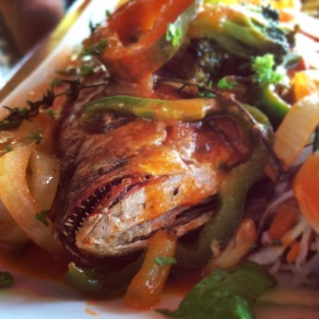Red Snapper dish.
