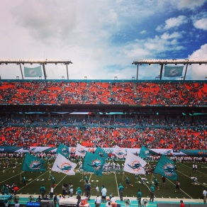 Opening games at Sun Life Stadium - The Dolphins WON!
