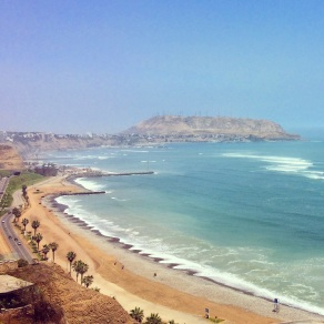 Looking over the Pacific on the Lima coast
