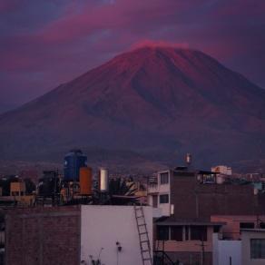 Sunset over El MIsti