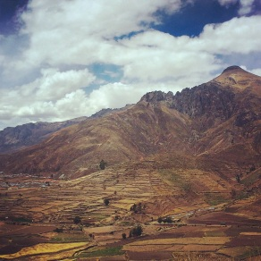 On the road to the Colca Canyon
