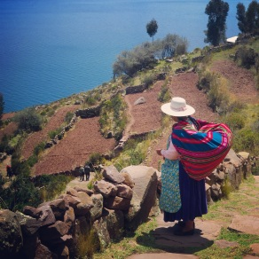 Overlooking Lake Titicaca on Taquile Island