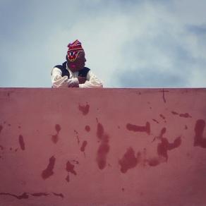 Town elder on Taquile Island, Lake Titicaca