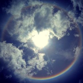 Sun Halo over Lake Titicaca
