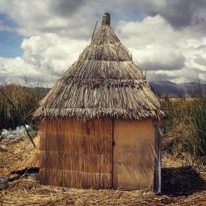 Reed hut on Uros