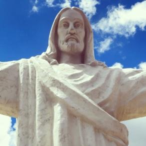 Christ Blano overlooking Cusco