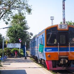 Train to Kanchanaburi, Thailand