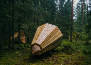 estonian-students-forest-megaphones-library-rooms-voru-county-designboom-06