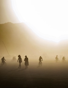 White out conditions on the playa
