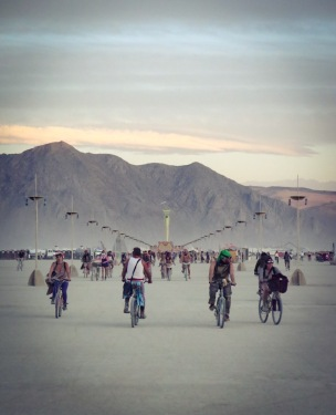 Cycling to the Man