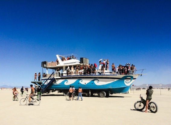 Biggest art car we saw on the playa